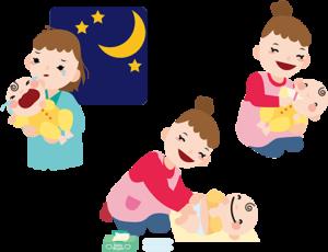 育児のイラスト
